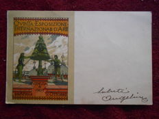Pair of commemorative postcards of National Art Exhibition in Venice 1903-1907