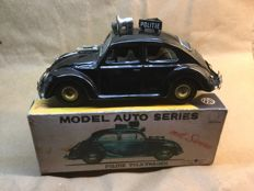 "Bandai, Japan - Length 21 cm - Tin Volkswagen Beetle ""Amsterdam police"" with friction motor, 1960s"