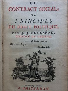Jean Jacques Rousseau - Du Contract Social: ou Principes du Droit Politique - 1762