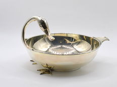 Sterling silver duck shape fruit & punch bowl, international hallmarked 925