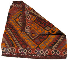 Very antique 3679 Cicim KILIM rug – Authentic, original, COLLECTOR'S ITEM – About 62 x 54 cm – With official certificate of authenticity from an expert – (Farah Gallery 1970)