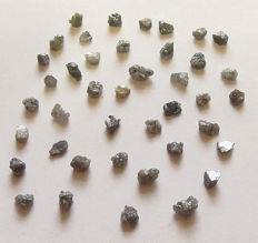 Many rough diamonds - 8.05ct - length 2.9 - 5.9mm (41)