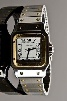Cartier Santos Galbee 2-Tone – men's wristwatch.