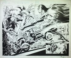 Mike Deodato Jr. - Splash Page double page - Spiderman Vs Morlun