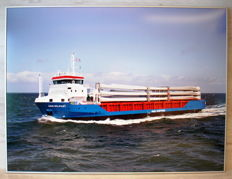 "Full size picture ""Abis Shipping Belfast"" transport ship on the high seas"