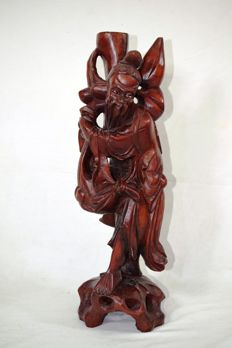 Sculpture of holy figure, Shoulao – China – Second half of the 20th Century