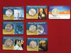 The Netherlands, 5 euro, 2004-2008, and 10 euro, 2005 (seven items in total)