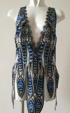 Robert Cavalli – Blouse/top in silk and lace