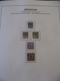 Bergedorf and Bremen 1855-1867 - Stamp collection