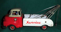 "Arnold, France - Length: 31 cm - Sheet metal ""Bedford"" tow truck, 50s (rare)"