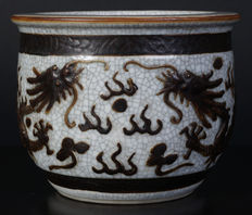 Porcelain Nanking brush washer - China - 19th century