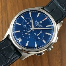 Zenith Limited Edition Blue Captain Chronograph El Primero 36000 VPH ref. 03.2116.400 New With Tags - 2017