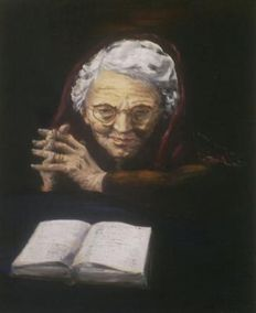 Unknown artist - Portrait of an old lady