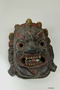 Ritual wooden mask - Mahakala - Nepal - second half of 20th century.