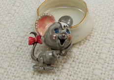 Har vintage charming mouse brooch New York 1955