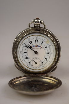 Antique silver pocket watch – Billodes – around 1850