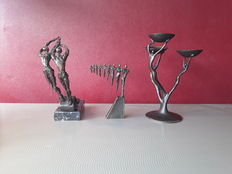 3 bronze-plated sculptures Corry Ammerlaan van Niekerk