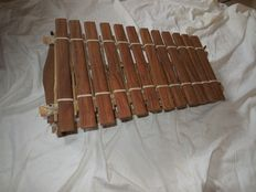 Old balafon/xylophone with calabashes
