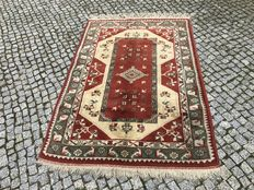 Turkish / Turkey Milas Rug-193x123cm -hand knotted with certyfikate NO RESERVE PRICE !