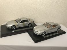 Maisto - Scale 1/18 - Mercedes-Benz SLR and Mercedes-Benz SL55 - Silver