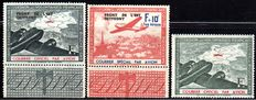 Occupation of France 1942 - 'Airmail stamps with and without overprint, Eastern Front', Michel II, IV, V