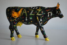 """Julie Larson for CowParade - 18th and Bovine """"JAZZ"""" - Large & Retired"""