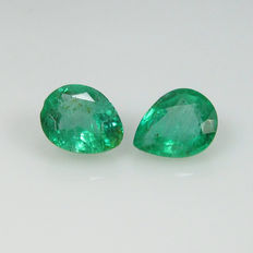 Emerald Pair - 1.50 ct - No Reserve Price