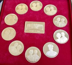 Royal houses of Europe in 11 coins ca 1970