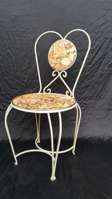 Designer unknown - ornamental chair with vintage floral pattern