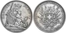 Switzerland - 5 francs 1867 - Schwyz