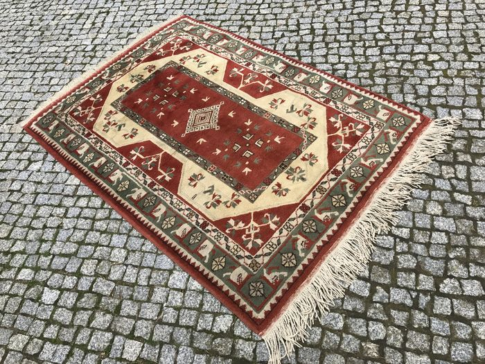 Turkish Milas Rug-190x122cm -hand knotted with certyfikate