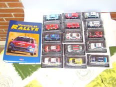Altaya - Scale 1/43 - Lot with 15 rally cars and Album with details and historical on each of the 15 proposed cars - language: French