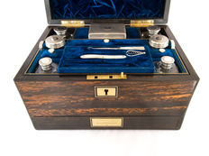 A fine coromandel travelling vanity box by Lund of London - circa 1840