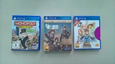 PS4 - Monopoly , Valkyria Europa Edition and Tales of Zestiria