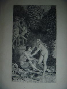 "Boilvin - Complete set of the 6 etchings of ""Daphnis et Chloé"" - 1875"