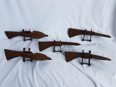 Set of five pickaxe heads from World War I