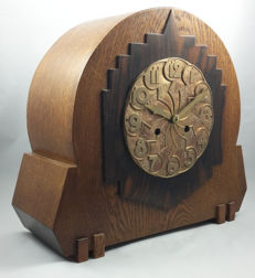 Amsterdam School clock with 8-day movement