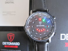 DETOMASO-Watch-Spacy-Timeline-2 -G-30730-BK Black-stainless steel-New