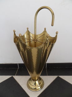 Brass umbrella stand in the shape of an umbrella - 1960's
