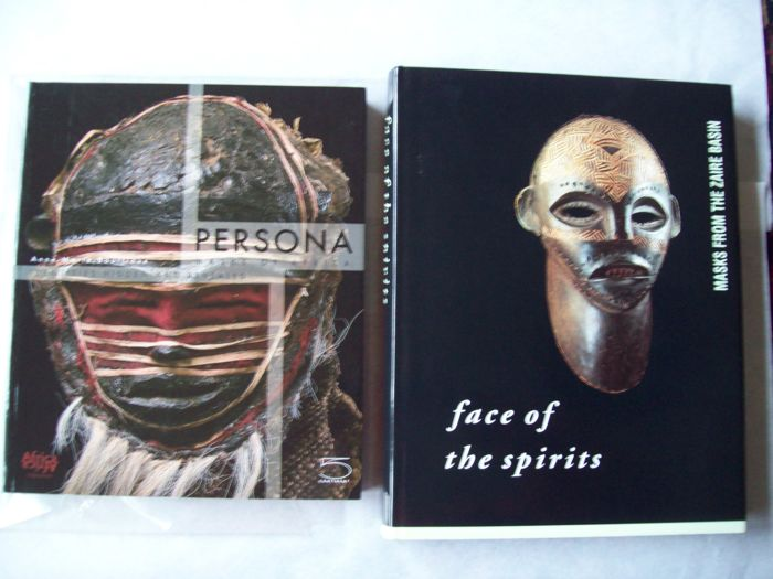 Lot with Two Books on African Mask Collections.