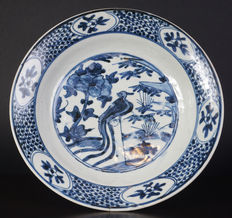 Large blue-white porcelain Swatow dish – China – Ming period