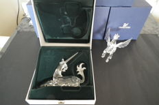 "Swarovski - Annual Editions Unicorn and Pegasus of the ""Fabulous Animal Kingdom"" series."