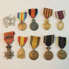 9 Belgian veteran medals World Wars