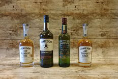 4 bottles - Jameson - Blender's Dog - Caskmates - David Smith - Cooper's Croze