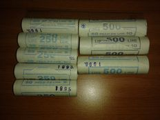 Republic of Italy - Lot of 8 rolls, different years - (400 coins)