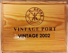 2002 Vintage Port Kopke – 6 bottles in (closed) original wooden box