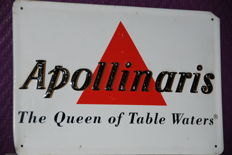 Apollinaris metal plaque - from the 1950s - 60s
