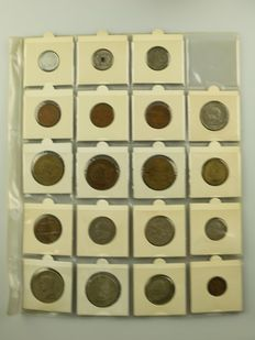 World - collection of 331 coins 1935/1980