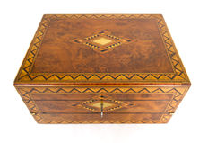 A Tunbridge ware burr walnut ladies' box - England - circa 1860