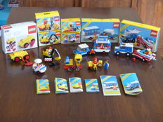 Classic Town - 7 sets including 6694 + 6698 - Car with Camper + RV with Speedboat
